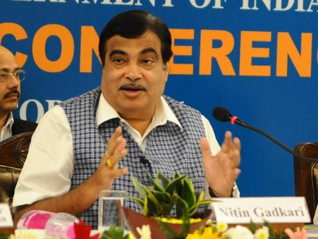 Union minister of road transport Nitin Gadkari during the concluding day of the Regional Editors' Conference in Chandigarh on Tuesday.