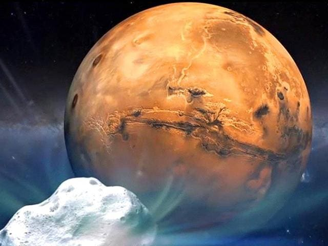 A file photo of an artist's  illustration of the Red Planet.