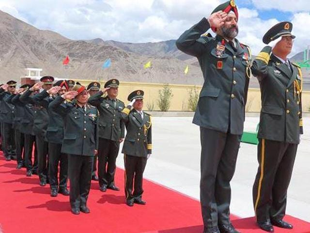 The Sino-Indian Border Personnel Meet was held for the first time in the Daulat Beg Oldie area in Ladakh.