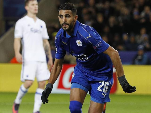 Mahrez scores the winner for Leicester with a close-range winner.