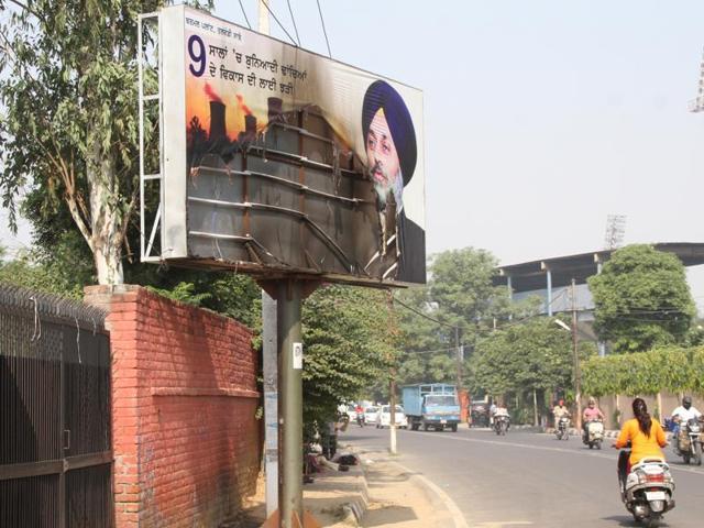 Punjab govt,hoardings,Ludhiana