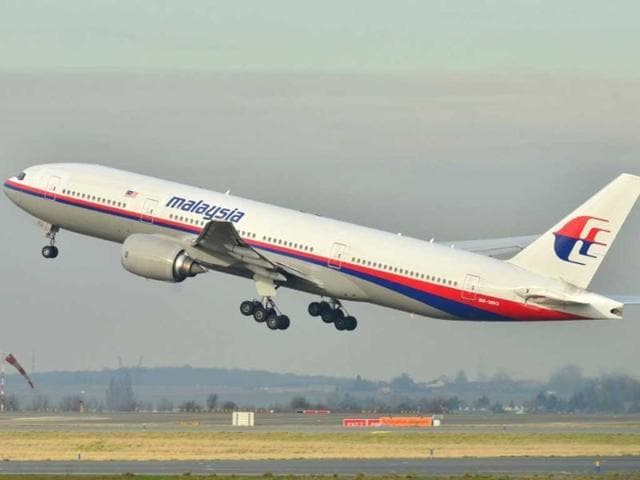 File photograph of Malaysian Airlines flight MH370 taking off from the runway.