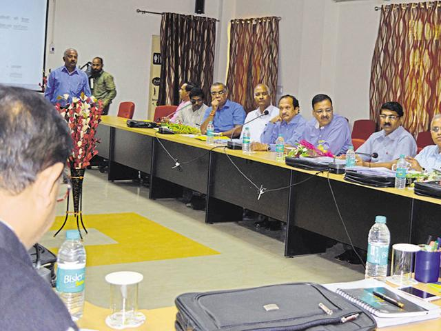 Vice chancellors' conference in progress at Jiwaji University in Gwalior on Tuesday.