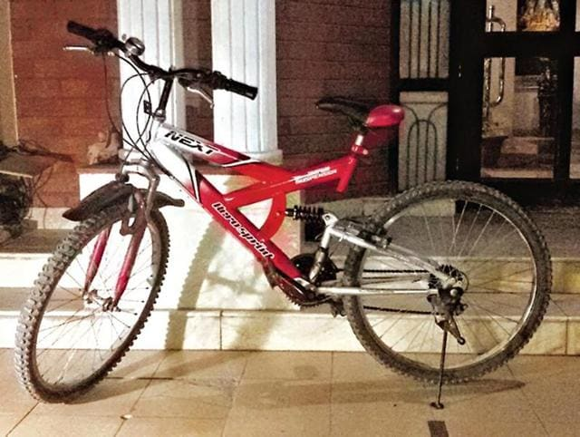 After a search operation was conducted by the police at a few places in the sector, two bicycles were found abandoned in the hedges on Wednesday morning.