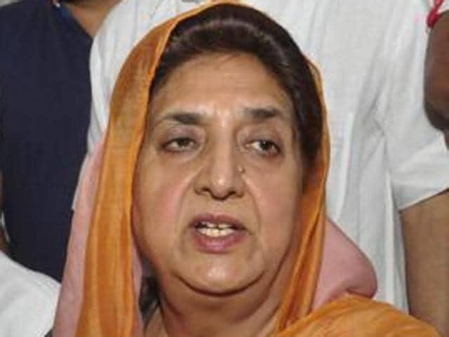 Senior Congress leader Rajinder Kaur Bhattal