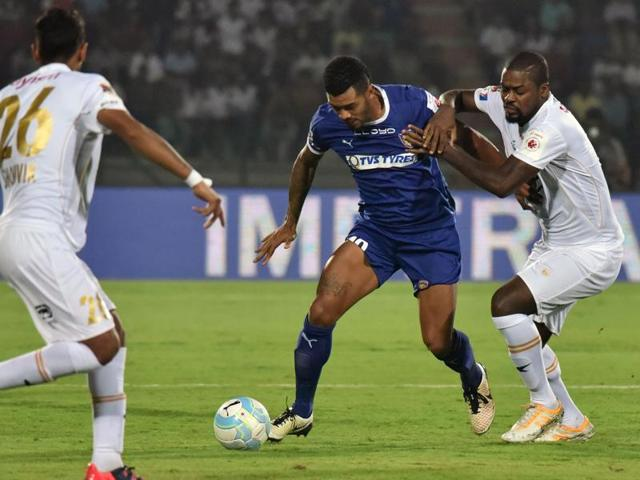 North East United FC lost their second game of the Indian Super League (ISL) as defending champions Chennaiyin FC shaded the table-toppers 1-0 in Guwahati .