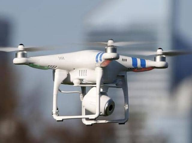 Camera-mounted drones,sorties,film shoots