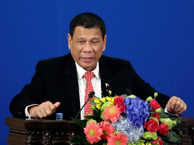 Philippines President Rodrigo Duterte makes a speech during the Philippines - China Trade and Investment Forum at the Great Hall of the People in Beijing, China, October 20, 2016. REUTERS/Wu Hong/ Pool