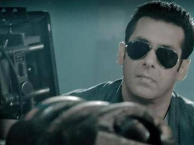 Salman Khan in a still from a Thums Up ad.