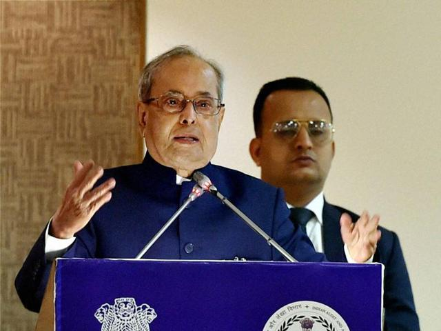 """President Pranab Mukherjee meets international delegates at a conference on """"Voter Education"""" at Rashtrapati Bhavan on Wednesday. The President is scheduled to visit Nepal on November 2."""