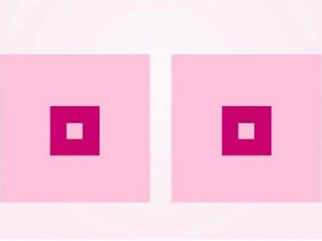 """After having tried to meet your rules for several days without succeeding, we have now reached a solution which will hopefully satisfy you: two pink squares! This cannot possibly be offensive,"" the charity Cancerfonden  said to Facebook."