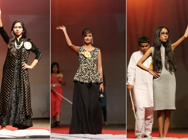 Visually impaired youngsters walked the ramp at Ujjwala, a festival by National Association for Blind (NAB) at IIT, Delhi.