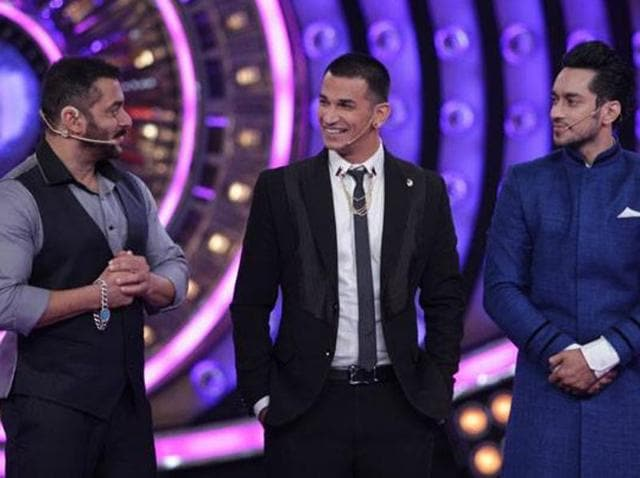Prince Narula (centre) won Bigg Boss 9.