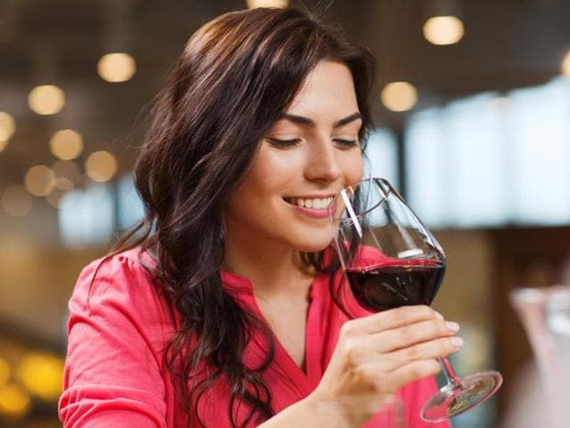 A polyphenol called resveratrol, which is found in red wine, peanuts, blackberries and chocolate, was able to correct hormone levels.