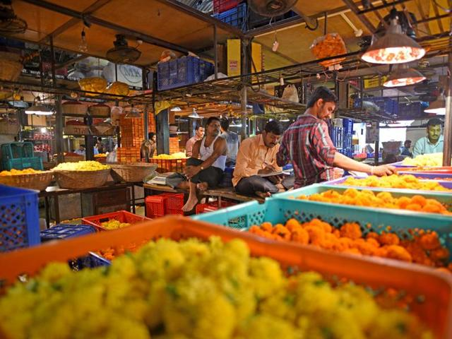 Flower vendors at Dadar flower market are gearing up for the festival of Diwali.