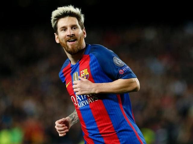 Barcelona's Lionel Messi scored a hat-trick in Barcelona's 4-0 thrashing of Manchester City in the Champions League on Wednesday.