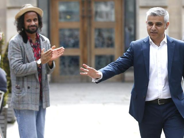 Mayor of London, Sadiq Khan, speaks during an event in east London. 46-year-old Khan made history by becoming the first Muslim mayor of a major western capital.