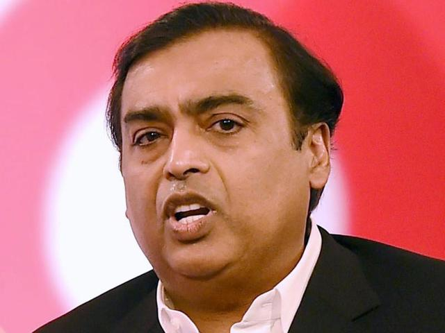 Mukesh Ambani, chairman and managing director of Reliance Industries Limited, during an event in Mumbai on Monday.