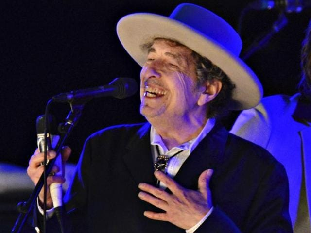 Bob Dylan performs during on day 2 of The Hop Festival in 2012.