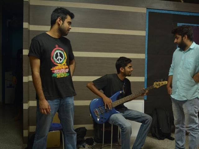 Ritansh and Sidharth of Motorcycle Shayaries, a rap rock band. The video of their song 'Holi Hai', uploaded on Youtube this March, has garnered over 12,000 views