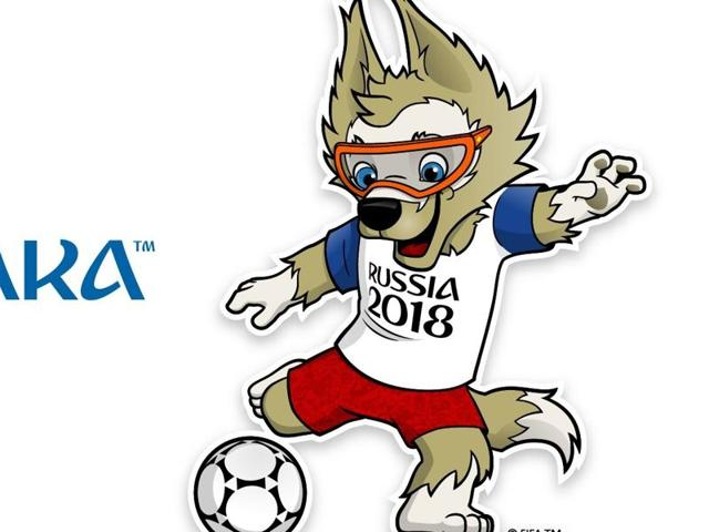 The wolf  prevailed over a cat and a tiger dressed in a space suit to become Russia's mascot for the 2018 World Cup