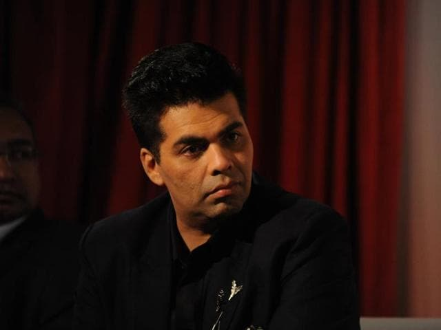 Maharashtra Navnirman Sena workers protest against Pakistani artistes by holding protests against filmmaker Karan Johar outside his office Andheri in Mumbai
