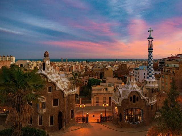 Park Guell is considered as one of the most impressive public parks in the world.
