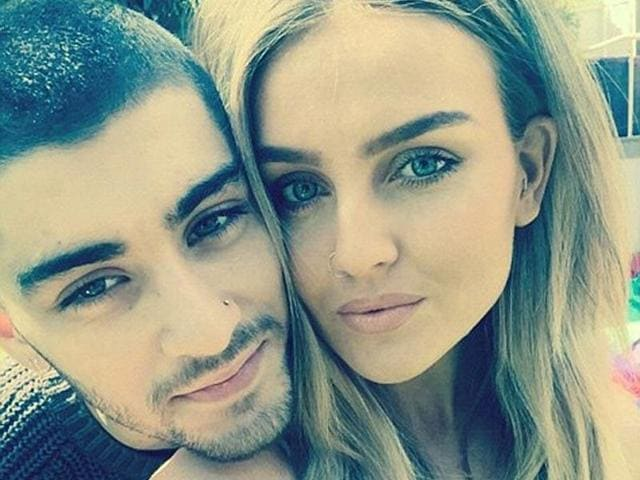 Former One Direction star Zayn Malik and Little Minx singer Perrie Edwards in happier times.