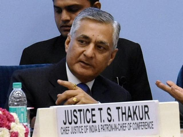 Chief Justice of India T S Thakur warned some of them that they could be thrown out of the courtroom if they did not behave.