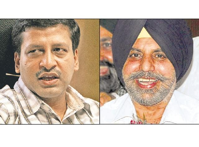 Second notice has been issued after then commissioner Uma Shankar Gupta (left) had accused Manjeet Sethi of misbehaviour in July.