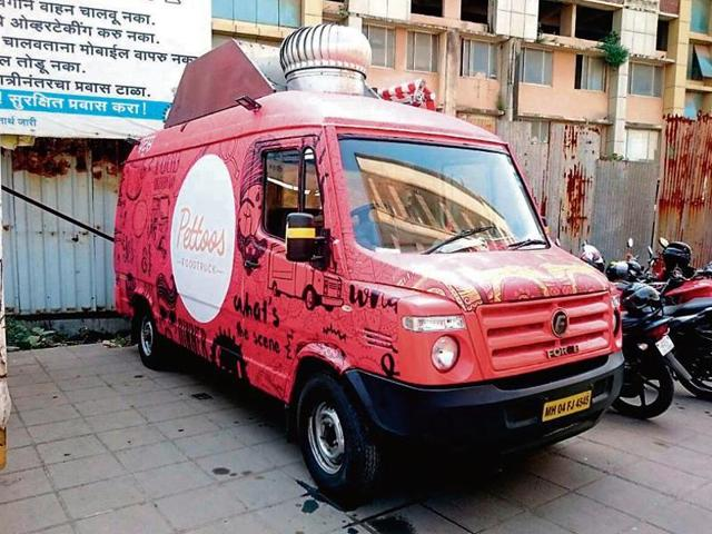 One of the food trucks that was impounded on Thursday night by the officers from Andheri RTO.