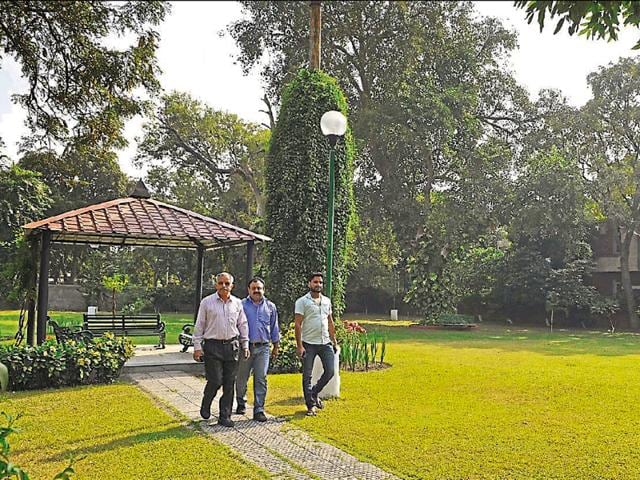 A well-maintained park in Sector 27.