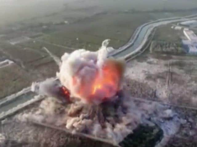 The Afghan Taliban uploaded a video showing a suicide bomber driving into a police base and blowing it up in the southern Helmand province of Afghanistan.