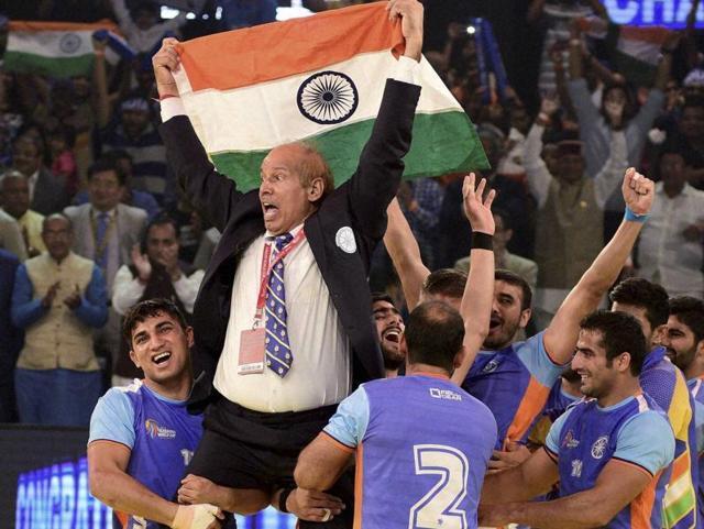 Kabaddi world cup,Coach,Dedicated to Uri martyrs