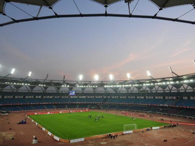 A view of Jawaharlal Nehru Stadium in New Delhi.