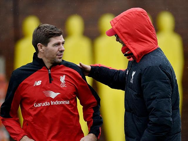Jurgen Klopp will hold talks with former Liverpool captain Steven Gerrard after the 36-year-old midfielder appeared to announce his departure from the LA Galaxy .