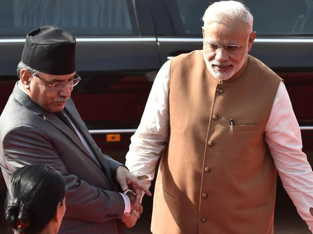 Creating such an oversight mechanism was agreed upon during the India visit of Prime Minister Pushpa Kamal Dahal ' Prachanda in September.(AJay Aggarwal/HT PHOTO)