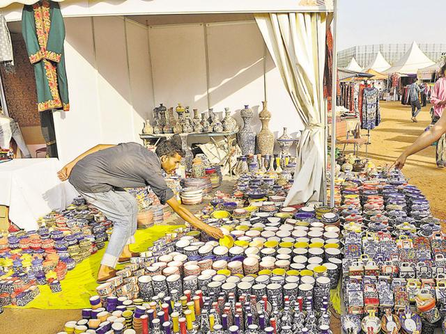 The 10-day Shilpotsav has handicraft items and food stalls of different states at Noida Stadium
