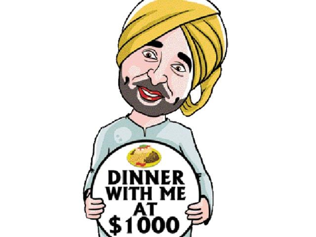 A fund-raising dinner has been scheduled in Surrey, Canada, on November 6 for which the cost of coupons for two persons for dinner with Mann is Canadian $1,000 (equivalent to Rs 50,000) whereas the normal entry ticket cost is $100.