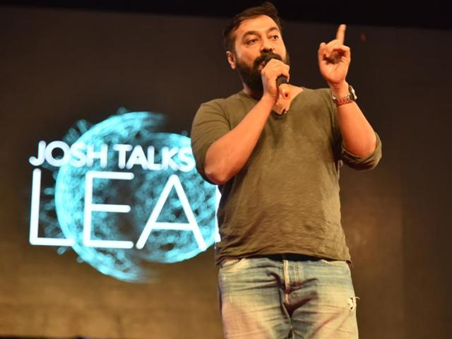 Filmmaker Anurag Kashyap shared with the crowd his tales of struggle and success.