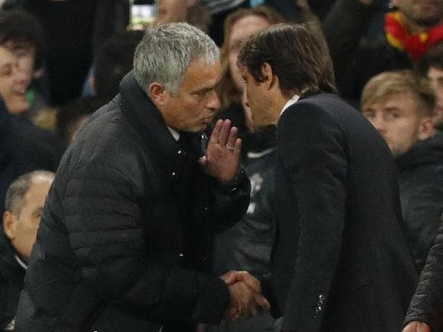"Pitch-side microphones suggested Mourinho had accused Conte, in Italian, of trying to ""humiliate"" his side by urging the home fans to make more noise."