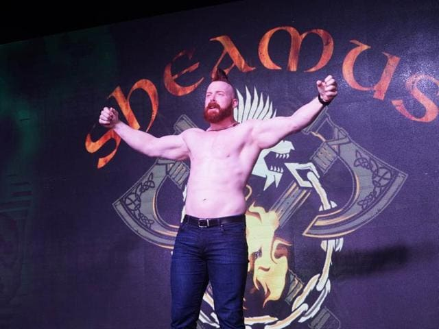 WWE wrestler Sheamus talks about visiting India, meeting actor John Abraham recently and his dream of working in a Bollywood film.(Prodip Guha/HT Photo)
