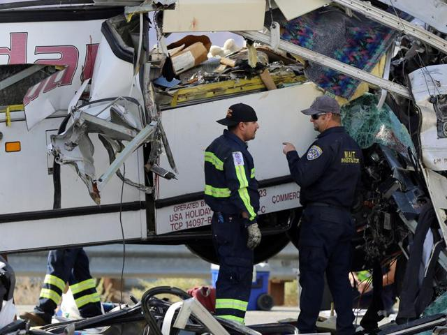 13 dead in California tour bus, truck crash: Reports | world news