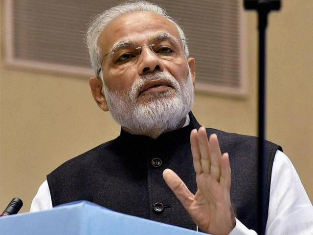 """Prime Minister Narendra Modi addresses the concluding session of """"Global Conference on National Initiative towards Strengthening Arbitration and Enforcement in India"""" in New Delhi on Sunday."""