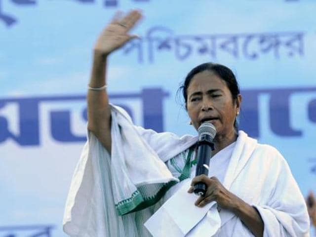 Mamata Banerjee is addressing at the Singur Divas Celebration rally at Singur.