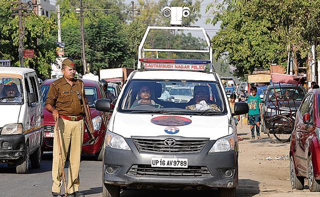 Noida,PCR van,Noia police