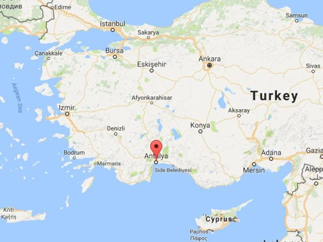 The explosion took place in the southern Turkish region of Antalya.