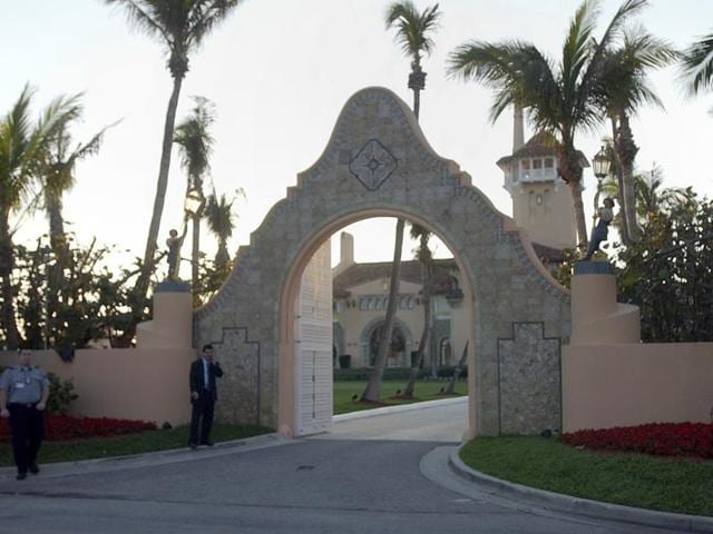 In this Jan 22, 2005 file photo, the entrance of Mar-a-Lago in West Palm Beach, Florida. Donald Trump received a $17 million insurance payment in 2005 for hurricane damage to Mar-a-Lago, his private club in Palm Beach, but The Associated Press found little evidence of such large-scale damage.