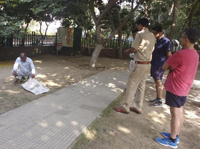 Residents informed police and the wild life department after they spotted the dead bird in a park on Monday.