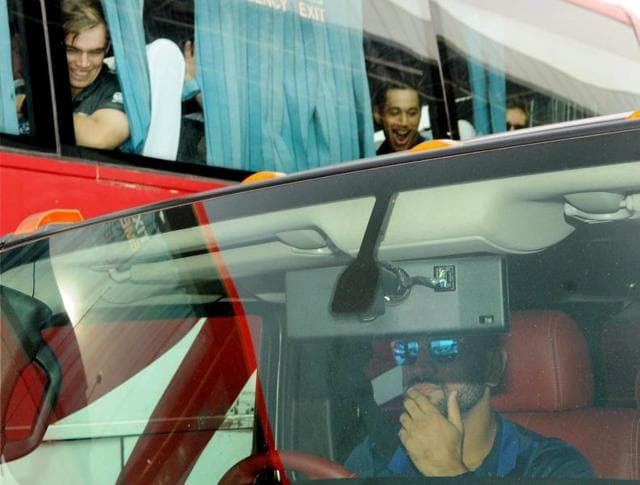 Dhoni who owns an extensive collection of imported cars, left the airport in his Hummer H2 2009 edition, leaving New Zealand batsmen Tom Latham and Ross Taylor stumped.